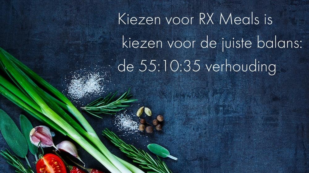 Kiezen voor RX Meals is kiezen voor de juiste balans_ de 55_9_35 verhouding